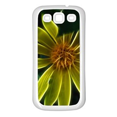 Yellow Wildflower Abstract Samsung Galaxy S3 Back Case (white) by bloomingvinedesign