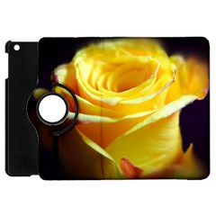 Yellow Rose Curling Apple Ipad Mini Flip 360 Case by bloomingvinedesign