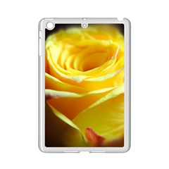 Yellow Rose Curling Apple iPad Mini 2 Case (White) by bloomingvinedesign