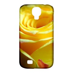 Yellow Rose Curling Samsung Galaxy S4 Classic Hardshell Case (PC+Silicone)