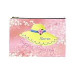 Happy Spring large cosmetic bag - Cosmetic Bag (Large)