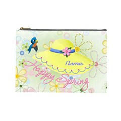 Happy Spring Large Cosmetic Bag #2 By Joy Johns   Cosmetic Bag (large)   Ehqk8iwn8gxd   Www Artscow Com Front