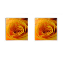 Yellow Rose Close Up Cufflinks (square) by bloomingvinedesign