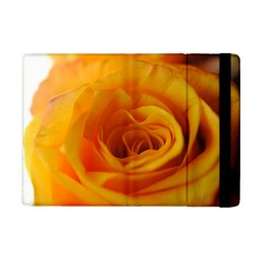 Yellow Rose Close Up Apple Ipad Mini Flip Case by bloomingvinedesign