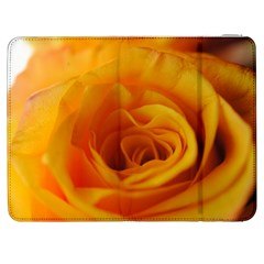 Yellow Rose Close Up Samsung Galaxy Tab 7  P1000 Flip Case by bloomingvinedesign