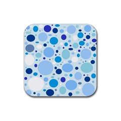 Bubbly Blues Drink Coasters 4 Pack (square)