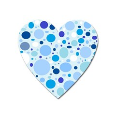 Bubbly Blues Magnet (heart) by StuffOrSomething
