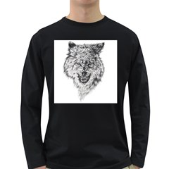 Lone Wolf Men s Long Sleeve T-shirt (Dark Colored) by Contest1907340