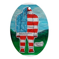 Painted Flag Big Foot Aust Oval Ornament by creationtruth