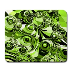Retro Green Abstract Large Mouse Pad (rectangle) by StuffOrSomething