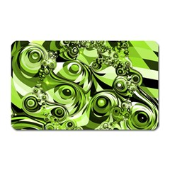 Retro Green Abstract Magnet (rectangular) by StuffOrSomething