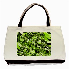 Retro Green Abstract Classic Tote Bag by StuffOrSomething