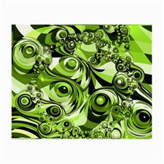 Retro Green Abstract Glasses Cloth (small, Two Sided) by StuffOrSomething