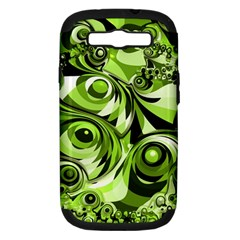 Retro Green Abstract Samsung Galaxy S Iii Hardshell Case (pc+silicone) by StuffOrSomething