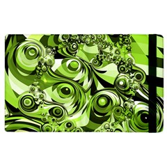 Retro Green Abstract Apple Ipad 2 Flip Case by StuffOrSomething
