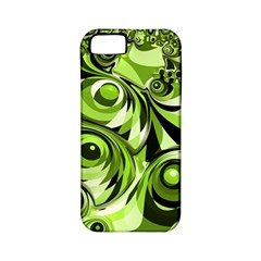 Retro Green Abstract Apple Iphone 5 Classic Hardshell Case (pc+silicone) by StuffOrSomething