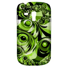 Retro Green Abstract Samsung Galaxy S3 Mini I8190 Hardshell Case by StuffOrSomething