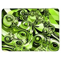 Retro Green Abstract Samsung Galaxy Tab 7  P1000 Flip Case by StuffOrSomething