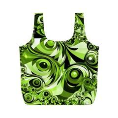 Retro Green Abstract Reusable Bag (M)