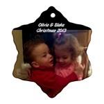 Olivia  - Ornament (Snowflake)