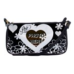 Love Flower shoulder clutch bag