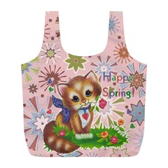 Happy Spring Large Recycle Bag By Joy Johns   Full Print Recycle Bag (l)   F9zugi6smta8   Www Artscow Com Front