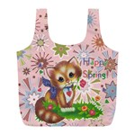 Happy Spring large recycle bag - Full Print Recycle Bag (L)