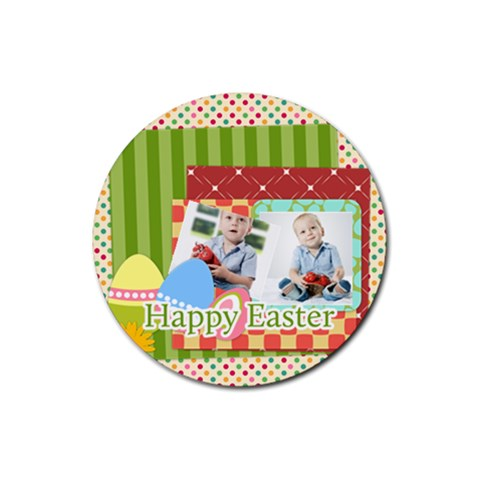 Easter By Easter   Rubber Round Coaster (4 Pack)   6u21cqjup6ql   Www Artscow Com Front