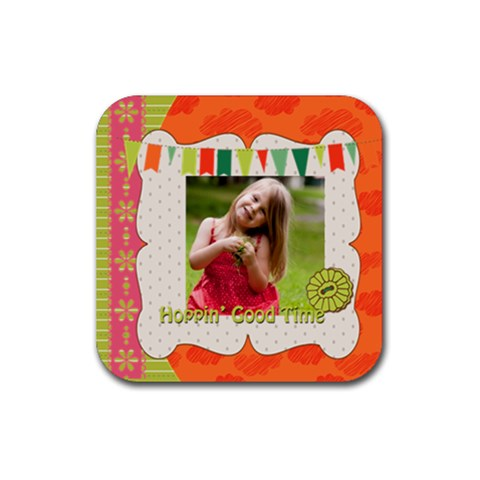 Easter By Easter   Rubber Coaster (square)   5m4a0ecf70y4   Www Artscow Com Front
