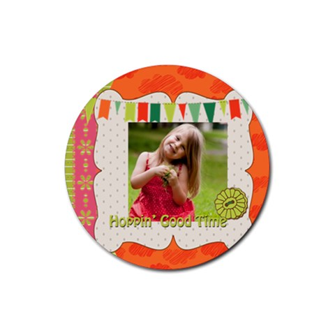 Easter By Easter   Rubber Round Coaster (4 Pack)   Vqw0xzw7sibk   Www Artscow Com Front