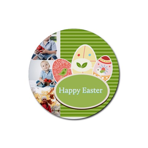 Easter By Easter   Rubber Round Coaster (4 Pack)   Zudl2buv2wcd   Www Artscow Com Front