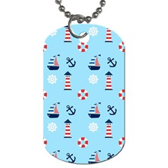 Sailing The Bay Dog Tag (one Sided) by StuffOrSomething
