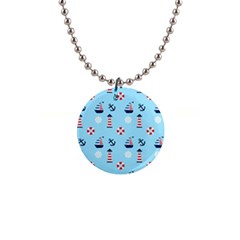 Sailing The Bay Button Necklace by StuffOrSomething