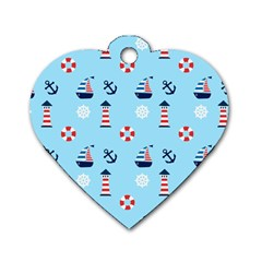 Sailing The Bay Dog Tag Heart (two Sided) by StuffOrSomething