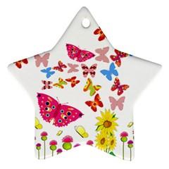 Butterfly Beauty Star Ornament by StuffOrSomething
