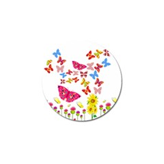 Butterfly Beauty Golf Ball Marker 10 Pack