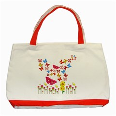 Butterfly Beauty Classic Tote Bag (red) by StuffOrSomething
