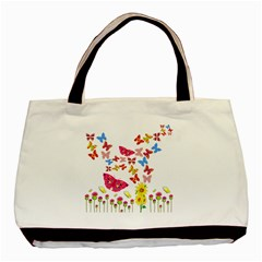 Butterfly Beauty Twin Sided Black Tote Bag by StuffOrSomething