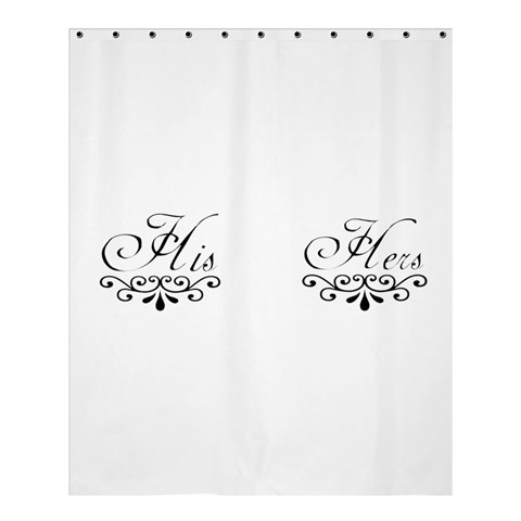 His And Hers By J M  Raymond   Shower Curtain 60  X 72  (medium)   Xgw2ebq0ve72   Www Artscow Com 54.25 x65.71 Curtain