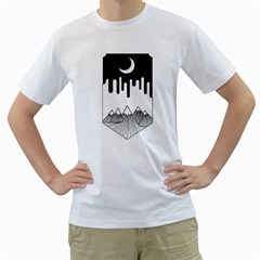 Night Melting Men s T-Shirt (White)  by Contest1854579