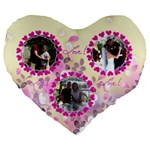 Love 19  Cushion - Large 19  Premium Heart Shape Cushion