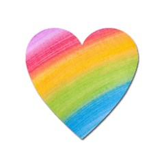 Acrylic Rainbow Magnet (heart) by StuffOrSomething