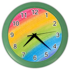 Acrylic Rainbow Wall Clock (color) by StuffOrSomething