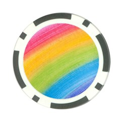 Acrylic Rainbow Poker Chip (10 Pack) by StuffOrSomething