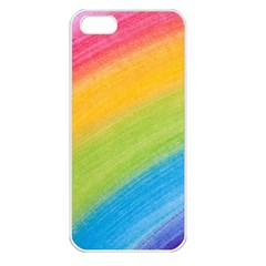 Acrylic Rainbow Apple Iphone 5 Seamless Case (white) by StuffOrSomething