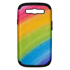 Acrylic Rainbow Samsung Galaxy S Iii Hardshell Case (pc+silicone) by StuffOrSomething