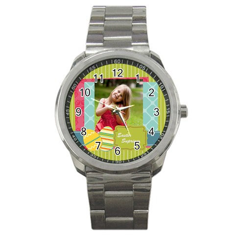 Easter By Easter   Sport Metal Watch   Uffirpv0y9xj   Www Artscow Com Front