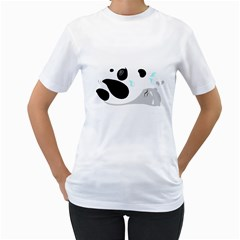 panda WORKOUT ii Women s T-Shirt (White)  by undertwisted