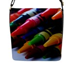 crayons - Flap Closure Messenger Bag (L)
