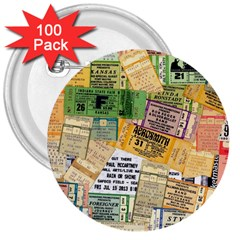 Retro Concert Tickets 3  Button (100 Pack) by StuffOrSomething